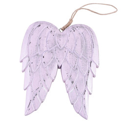 Angelwings Hanger wood light-pink 16x13x1cm