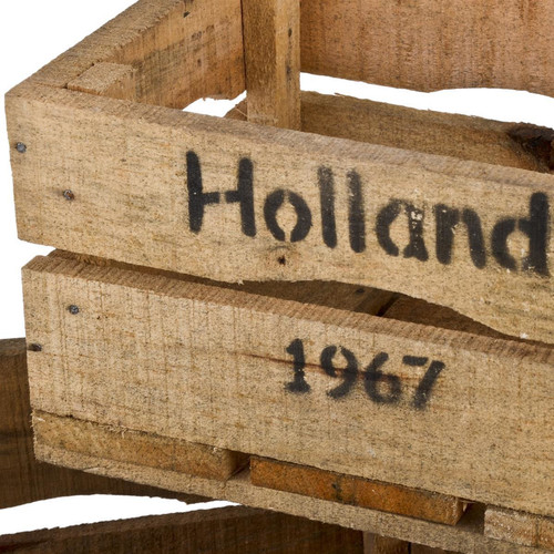Holzkisten 3er Set Holland 67 Motiv Vintage-Used Design 18-22-25cm braun