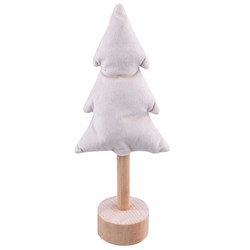 Christmastree wood-fabric 27x12x6cm natural