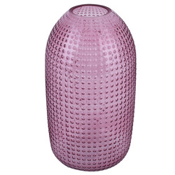 Vase Global-Chique Glas 29x15x15cm rosa