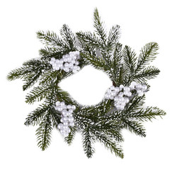 Wreath Fir-Berrie 26x26x6cm green-white