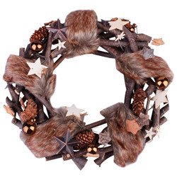 Wreath Xmas-Naturals 30x30x7cm brown-natural