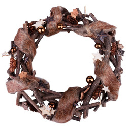 Wreath Xmas-Naturals 39x39x7cm brown-natural