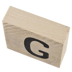 Letter G Deco Block timberwood 9x9x3cm natural