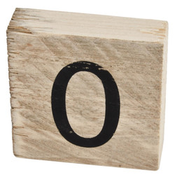 Letter O Deco Block timberwood 9x9x3cm natural