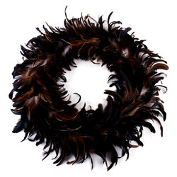 Wreath Luxury-Winter Design Feather Deco 45x45x6cm...