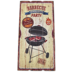 Holzschild Barbecue Party Design MDF 60x30cm bunt