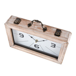 Clock -Bag Style- Design wood 18x30x6cm natural-washed
