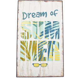 Holzschild Dream of Summer Design MDF 48x24cm bunt